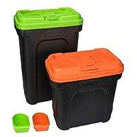 Display Guru Pet Food Storage Container with Scoop Green or Orange (Small)