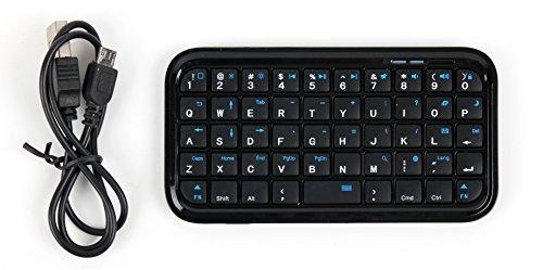 DURAGADGET Bluetooth Tastatur im Mini-Format mit englischem Tastaturlayout QWERTY - für Bestore A8 | A9 | X8 und KV-MXCS-ZL3S (Toughgear) Smartphones
