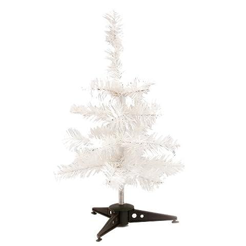 Mini Künstlicher Weihnachtsbaum - Farbige Zweige Tischweihnachtsbaum - Weiß