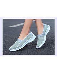 XINGMU Luz Mujeres Zapatos Sneakers Verano Malla Transpirable Zapatos Casual Femenino Dama Caminar Cómodos para...