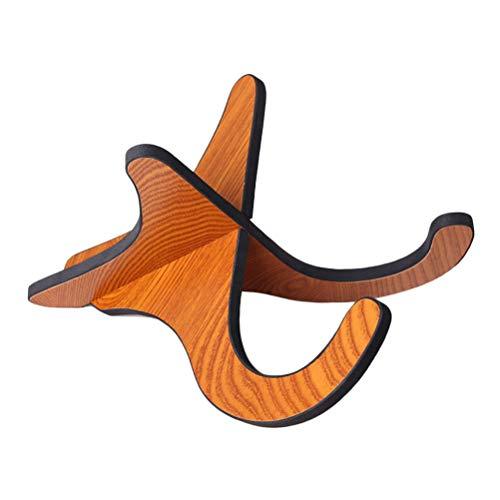 Yissma Hölzerner Ukulelenständer, für Saiteninstrumente Spezielle vertikale Halterung - Zusammenklappbare und tragbare Stütze - für Ukulele, Mandoline und Violine