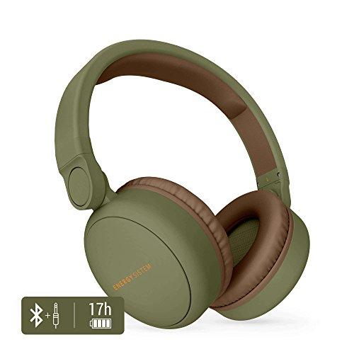 Energy Headphones 2 Bluetooth Green (Circumaural, Plegable, bateria Recargable,Audio-in)