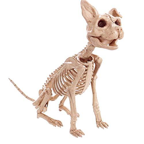 LXYFMS Halloween Dekorationen Simulation Tier Skelett Drachen Hund Katze Schlange Knochen Bar Filme Spukhaus Requisiten Halloween liefert