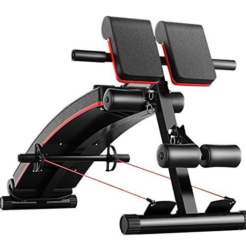 Sit-up board Home 3-in-1-Multifunktions-Fitnessgerät, einstellbares Haushaltslicht, Bauchbrett, römischer Stuhl, Hantelbank, Maximale Belastung 440 lbs Schwarz + Rot