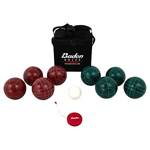 Baden Bocce Ball Set mit Tragetasche und Maßband - Verschiedene Größen, Unisex-Erwachsene, Champions 90mm Bocce Ball Set