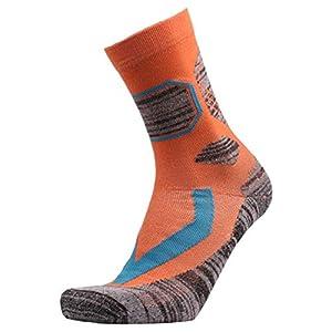HATCHMATIC Laufen 1 Paar Herren-Socken Lage Außen Ort Wandern Camping Radfahren Laufen Compression Trekking Ski Socken: Orange