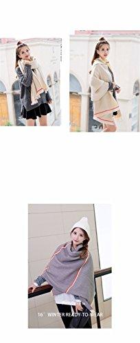 Écharpe d'hiver femme imitation cashmere chambre climatisée chaude couleur solide châle crème solaire ombre rectangulaire 200cm * 80cm,Couleur Café Femmes, festivals, cadeaux d'anniversaire Beige