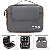Acoki High Grade Nylon 2 Layers Travel Electronic Accessories Organizer Bag,Travel Gadget Carry Bag, Perfect Size Fit for iPa