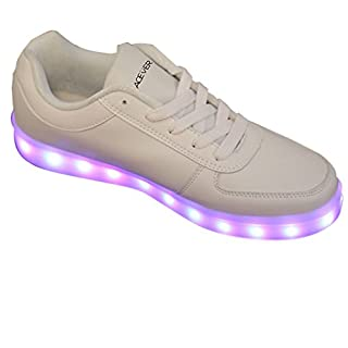 acever® LED Schuhe LED Sneaker Sport Schuhe Blinken Geburtstag Geschenk Ball Party Rave Party Camping Wandern Trekking Atmungsaktiv Schuhe für Frauen As shown on image EU41/UK7.5-8/CHN43