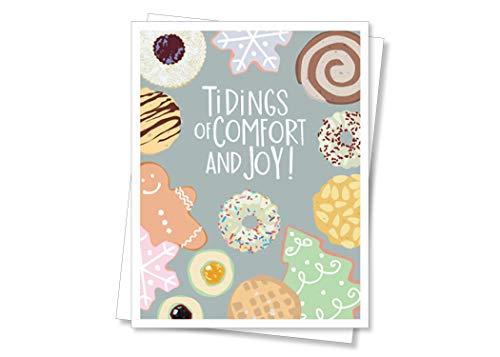 9BOX Weihnachtskarten Holiday Cookies, Box mit 10 Weihnachtskarten, rot/orange/gelb/grün/blau/indigo/violett ()