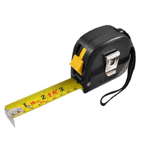 Aexit Englisches metrisches Messwerkzeug einziehbares manuelles Sperrlineal-Band 16 Fuß 5M (0d874da34f26ca98caec88eadd59fb0a)