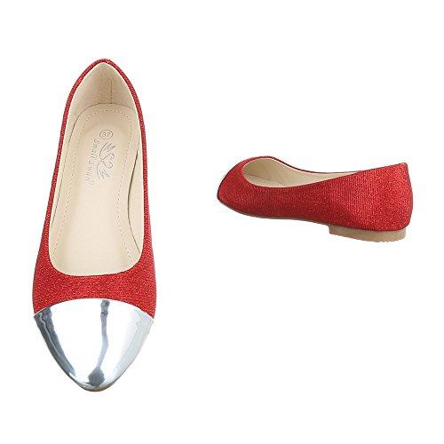 Flats Vermelho Planos 39 Chinelo Sapatos Bombas Ouro 40 Prata Em Mulheres Azul Escorregar 36 41 37 38 4URwqcE