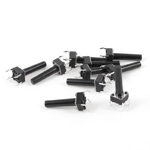 Sourcingmap - 10 pezzi 6x6x18mm 4 pin pcb momentaneo interruttore a pulsante tatto pulsante tattile