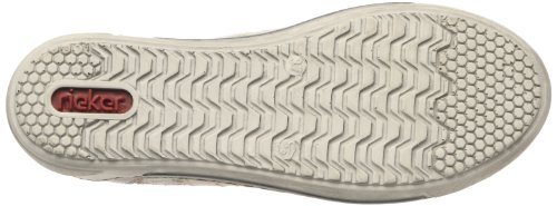 Rieker Judith 42425, Scarpe sportive donna Beige (Whiteclay/elefant/grey-multi / 60)