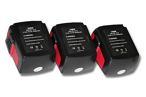 Batterie B 144 - Lot de 3 batteries vhbw 4000mAh (14.4V)