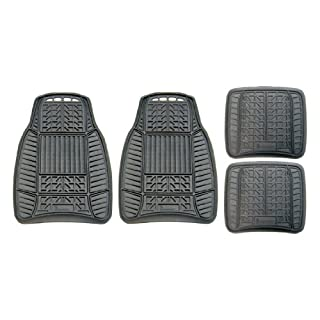Michelin 98016 All Weather Rubber Mat Set - Black (4 Pieces)