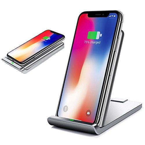 Qi Wireless Faltbar Charger Induktive Ladestation LEMEGO Ladegerät Induktionsladegerät Schnellladenstadtion für iPhone X/iphone 8/8 Plus Samsung Galaxy Note8/S8/S8 Plus und alle Qi Fähige Geräte (Moto X Drahtlose Telefon-ladegerät)