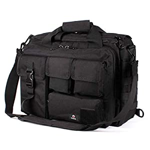 41coz9APqfL. SS300  - GES 15.6 inch Laptop Bag, Multi-funtion Men's Outdoor Tactical Nylon Shoulder Laptop Messenger Bag,Briefcase Handbags for Camera/Tablet/Notebook