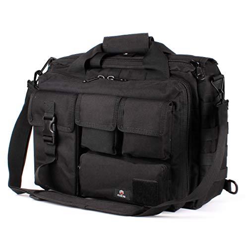 """GES Multifunktions Herren Dame im Freien taktischen Nylon Schulter Laptop Messenger Bag Aktentasche Handtaschen groß genug für 15.6 """"Laptop / Kamera"""