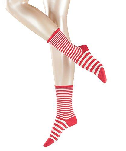 ESPRIT Damen Socken Duo Stripe, Rot (Shiny Pink 8145), 35-38