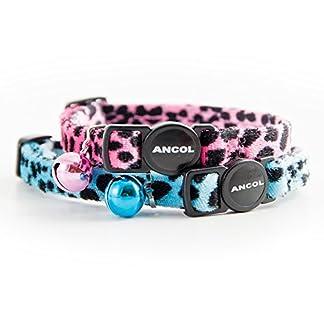 ancol acticat velvet leopard print cat collar, pink Ancol Acticat Velvet Leopard Print Cat Collar, Pink 41cp 2B2l9C8L