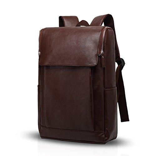 Fandare zaino da 15.6 pollici laptop zaino affari escursionismo viaggi studente zaino anti-furto multi-funzionale uomo/donna impermeabile pu profondo caffè