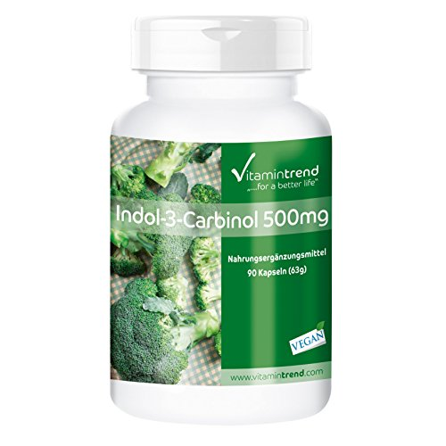 Indol-3-Carbinol 500mg - mit zusätzlichem Brokkoli-Pulver - 90 Kapseln- vegan
