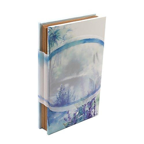 mysunny Scrapbook Album Chinoiserie DIY Retro Fotoalbum Akkordeon stil Faltende Album Einfügen oder Selbstklebendes Einklebebuch Kraftpapier Geschenkbox(Walking with You)