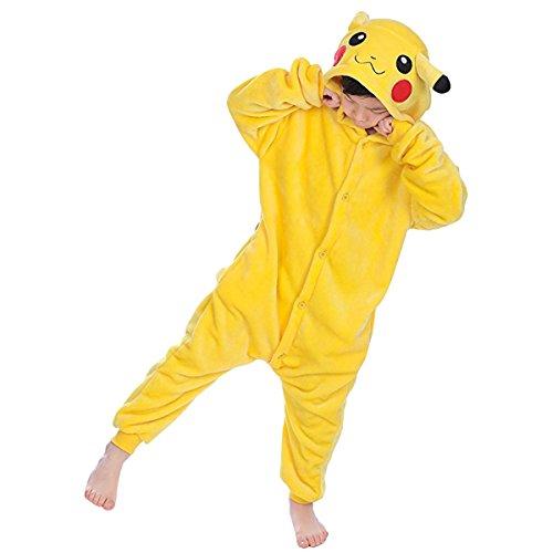 TinTop Pyjamas Onesie Jumpsuits Tier Cartoon Schlafanzug Erwachsene Kinder Unisex Overall Kostüm Cosplay Sleepwear für Halloween, Party, Farbe: 3-C, Kinder XXL ( Höhe 135-154 cm)