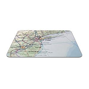 Alfombrilla de ratón con diseño de Mapa de Nueva York – Geográfica de Estados Unidos América Regalo Ordenador PC #8238