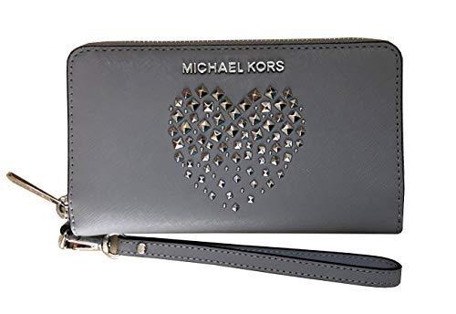 Michael Kors 35H8GGFE7L, Damen-Geldbörse Grau Ash Grey/Silver L