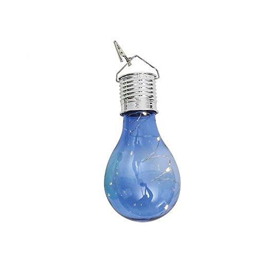 TWIFER Wasserdichte Solar drehbare Outdoor Garten Camping Hanging LED Licht Lampe Birne (Blau) 24 Foto Cube