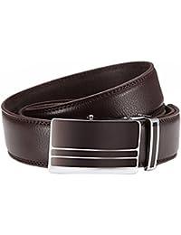 Ceinture en cuir automatikschließe coupe-ceinture en cuir pour homme de 3,2 cm de large