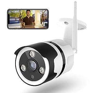 Telecamera di Sorveglianza Esterna,Netvue 1080P Telecamera di Sicurezza Telecamere Videosorveglianza Visione Notturna… 41cp1JccryL. SS300
