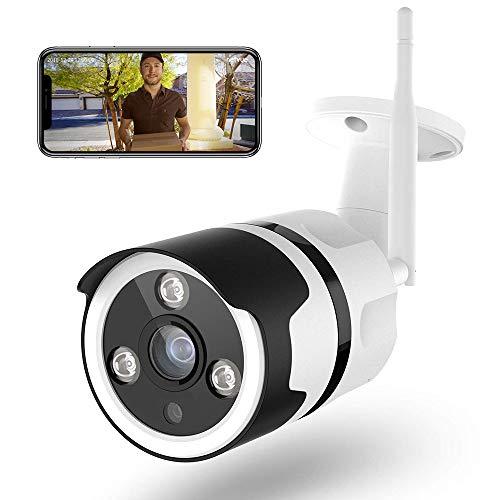 Netvue Caméra de Surveillance extérieure 1080P FHD WiFi IP Compatible avec Alexa, IP66 étanche à la poussière, caméra IP avec Vision Nocturne, Wi-FI