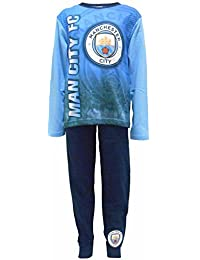 Manchester City Boys Pyjamas PJs Ages 4 to 12 Years Old