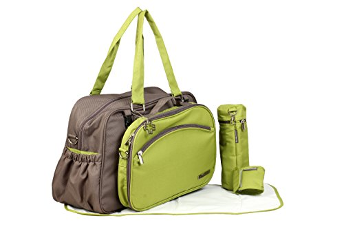 My Milestones Duo Detach Diaper Bag (Grey/Green)