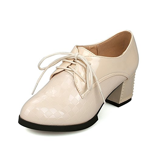 voguezone009-womens-lace-up-pu-round-closed-toe-kitten-heels-solid-pumps-shoes-beige-40
