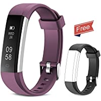 Yuanguo Fitness Tracker Smart Bracelet Activity Trackers Pedometer Watch Slim Smart Wristband Step Counter Sleep Monitor Calorie Counter Waterproof Fitness Watches for Kids Women Men
