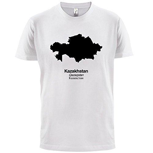 Kazakhstan / Kasachstan Silhouette - Herren T-Shirt - 13 Farben Weiß