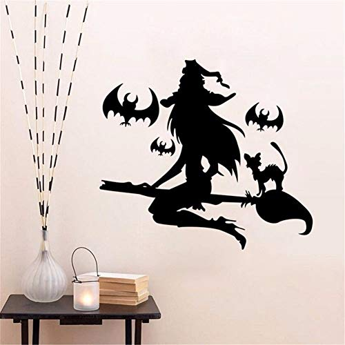eber Vinyl DIY Happy Halloween Wand Fensteraufkleber Kunst Vinyl Home Raumdekoration Wandbild Deca 64x57 cm ()