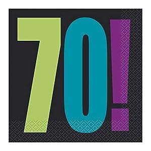 """70a Partido Ênico""""Cumpleaños Cheer"""" Papel Servilletas (paquete de 16)"""