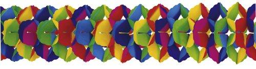 Riethmüller 2943 - Girlande, 25 cm x 10 m, schwer entflammbar, regenbogen
