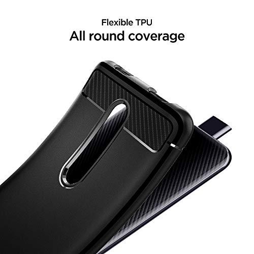 Spigen, Funda Compatible con Xiaomi Mi 9T / Mi 9T Pro/Redmi K20 / K20 Pro, [Rugged Armor] Absorción de Choque Resistente y diseño de Fibra de Carbono [Compatible con Carga Inalámbrica] - [Negro Mate]