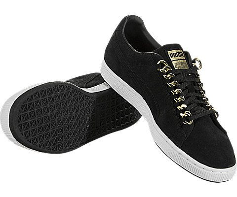 PUMA Classic X Chain Mens Black Suede Lace Up Sneakers Shoes 10 5