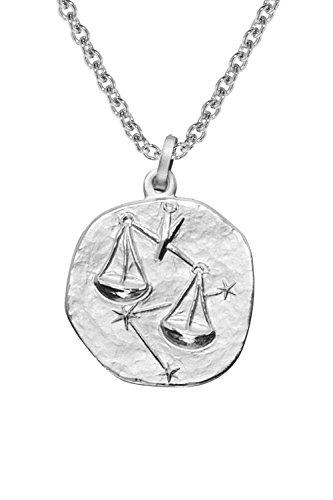 trendor Sternzeichen Waage mit Halskette Silber 925 08450
