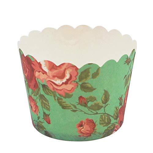 irr Papier Becher Einweg Becher Set Hoch Temperatur Tasse Beständig Backform Backpapier Tasse Kuchen Papierfach 5cm Boden 24PCS ()