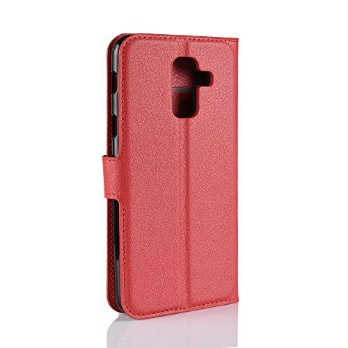 Funda   Capirotazo Billetera Samsung Galaxy A6 Plus 2018  Rojo