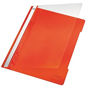 Esselte Leitz Standard PVC A4 Full Length Title Strip Orange