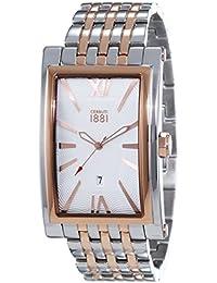 CERRUTI 1881 LUCCA CRB042STR04MRT - Reloj para hombres, correa de acero inoxidable multicolor